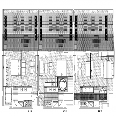 Drawing Of The Hotel Rooms Details Toilet Plan Hotel Plan Hotel
