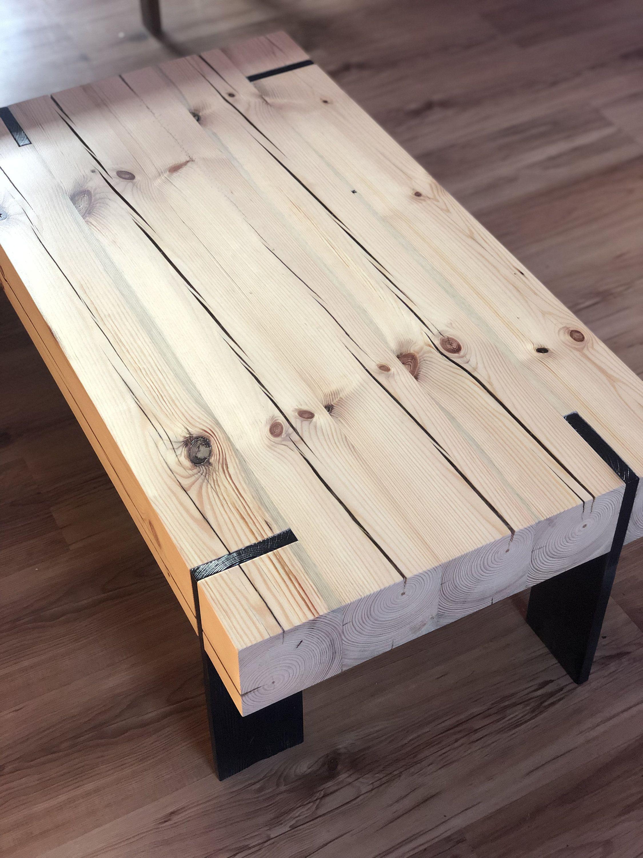 Original Handmade Wood Coffee Table Ze Sklepu Bluewoodenbird Na Etsy Coffee Table Wood Coffee Table Modern Wood Coffee Table