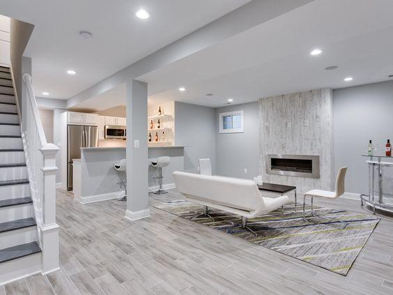 13 Basement Flooring Ideas Concrete Wood Tile Basement Living Rooms Basement Colors Basement Inspiration
