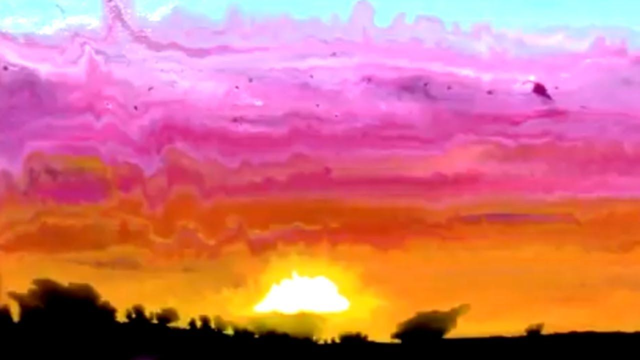 Pour And Swipe Abstract Sunset Easy Beginner Landscape Painting Lesson Youtube Landscape Painting Lesson Landscape Paintings Beginners Landscaping