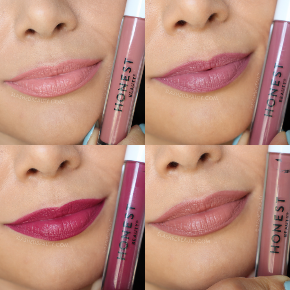 REVIEW: Honest Beauty Liquid Lipsticks + Swatches | Slashed Beauty#beauty