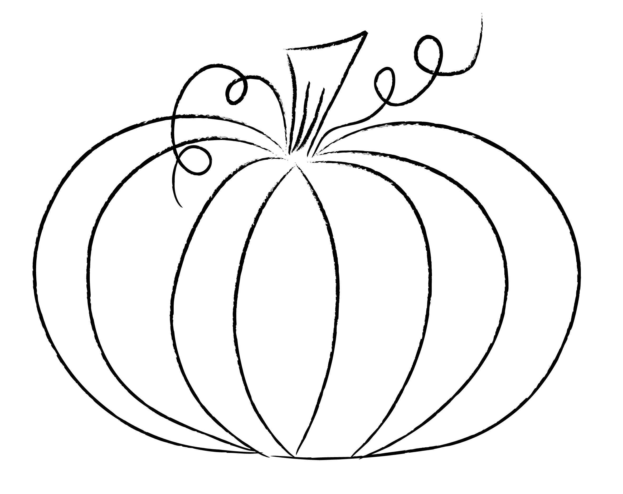 Pumpkin Outline Drawing Funky