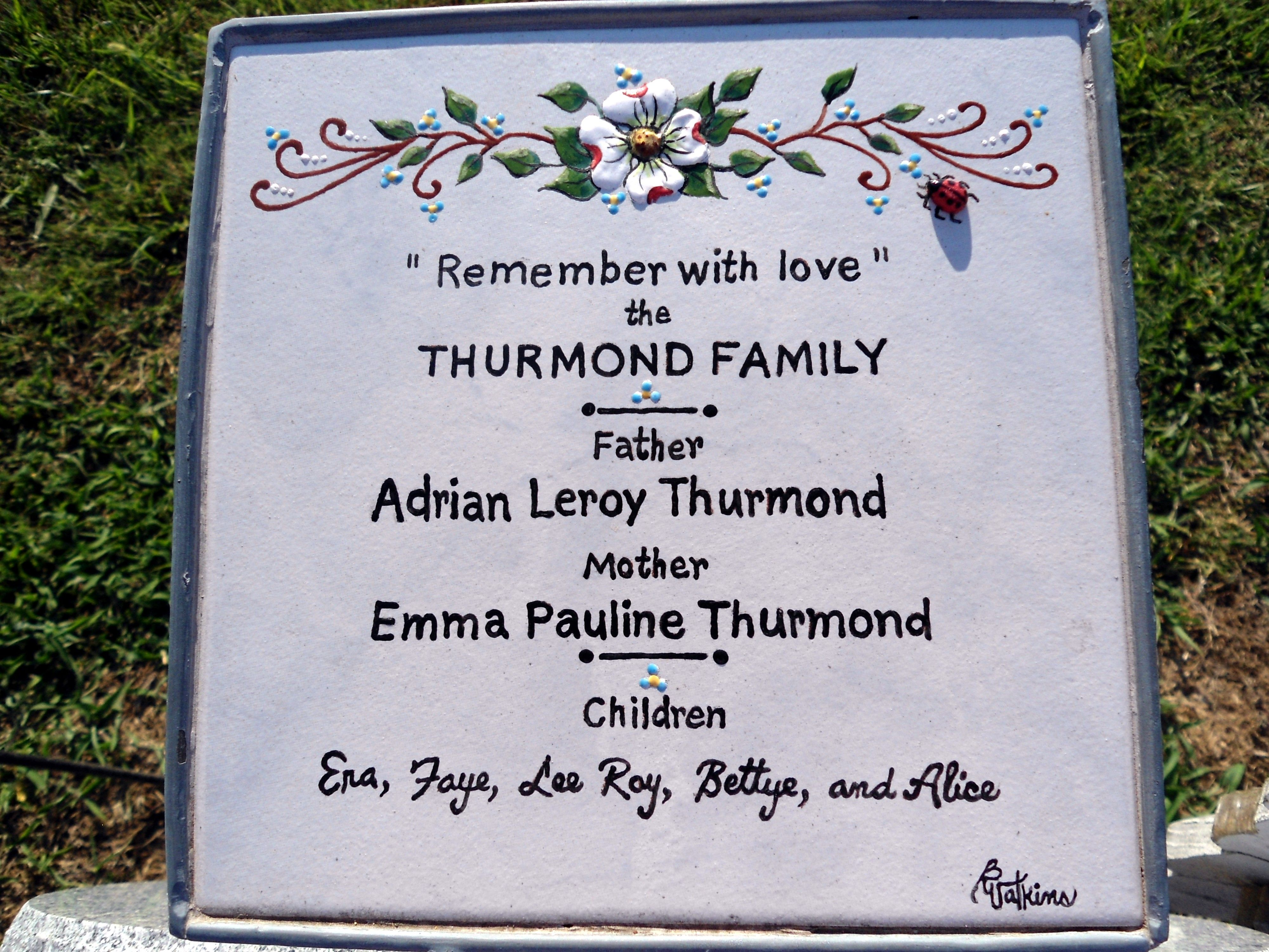 Another One Of My Ceramic Tile Grave Markers My Personal Hand - Ceramic photo tiles headstone