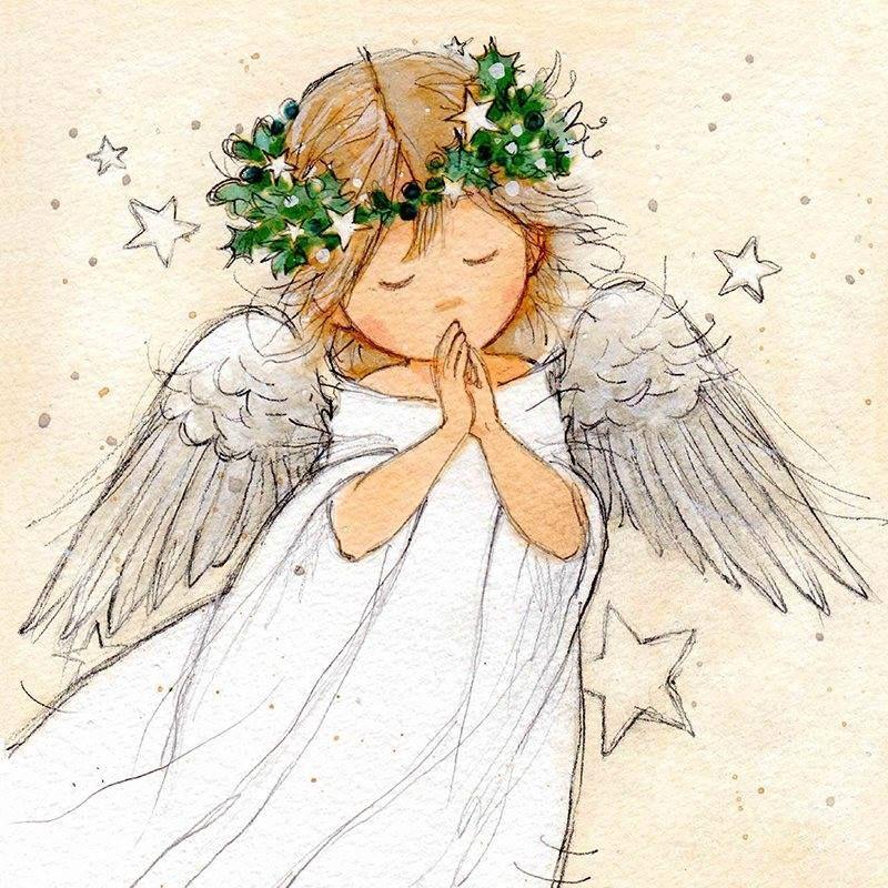 Знаки зодиака, авторские открытки с ангелами