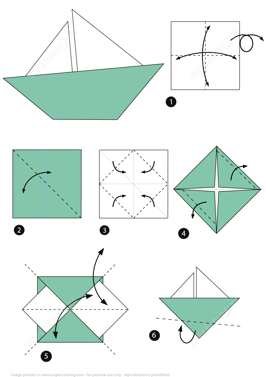 Learn How to Make an Easy Origami Boat in 2020 | Origami boot, Origami für  anfänger, Origami design | 1300x919