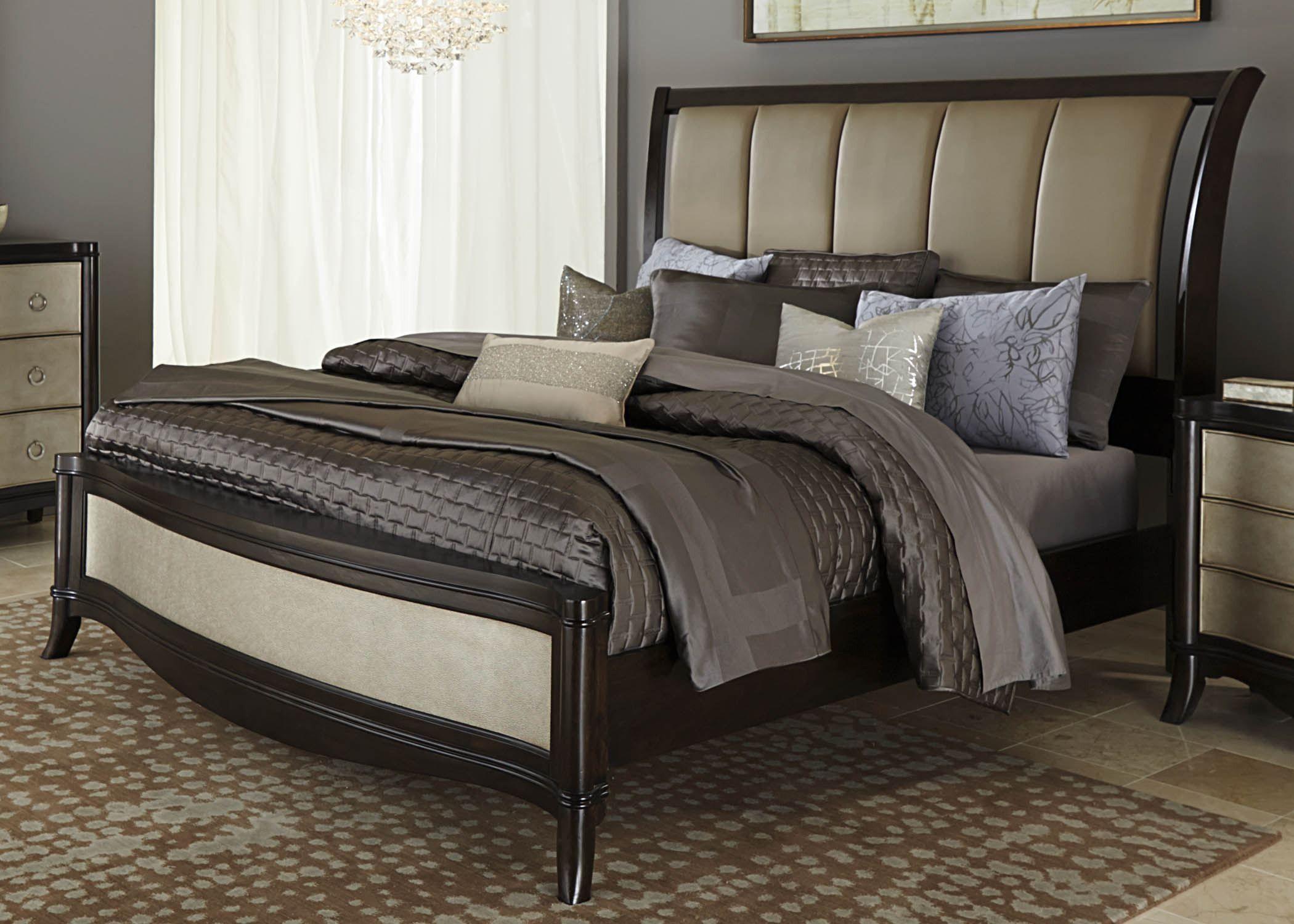 Sunset Boulevard Queen Sleigh Bed Liberty furniture