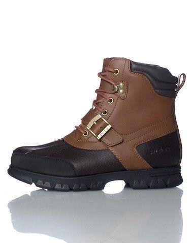 Mens Polo Ralph Lauren Country Ii Boots Dark Brown Black