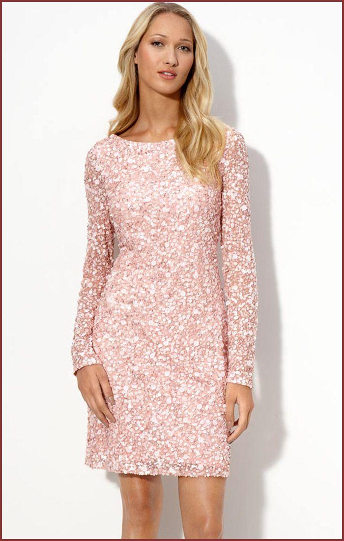 Long Sleeve Sequin Evening Dresses | Aidan Mattox Sequin Cocktail ...