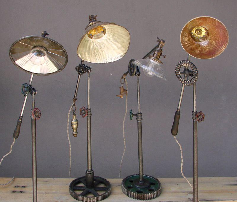 Pin By Jennifer Seefeldt On Lighting: Robert Ogden Industrial Found Object Vintage Lamps Lights