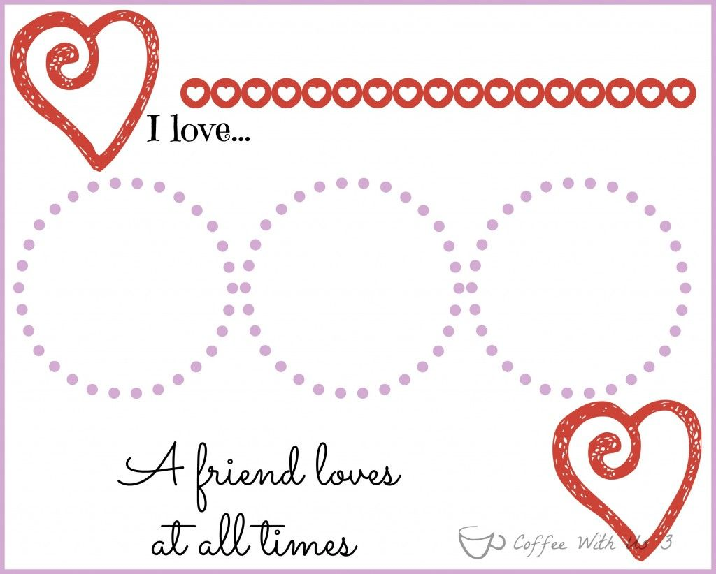 Valentines Placemats For Kids With Printable