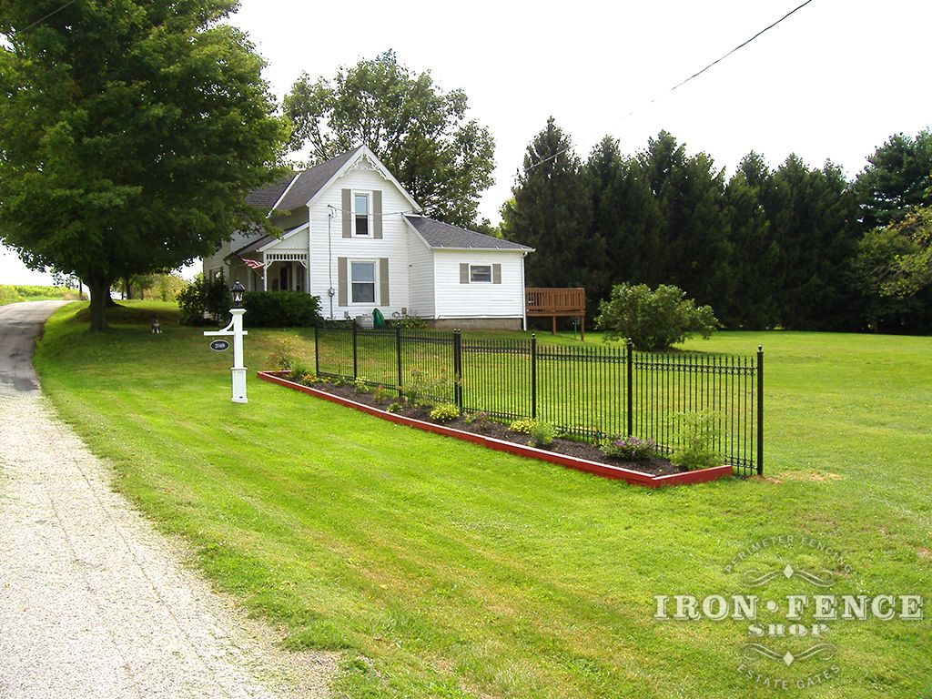 5ft tall wrought iron fence used to accent a front garden area and 5ft tall wrought iron fence used to accent a front garden area and act as a baanklon Choice Image