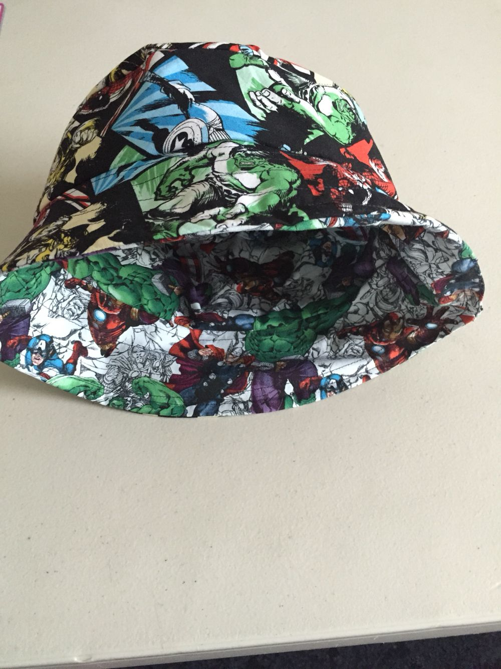 ... new zealand bucket hat with marvel avengers fabric. ec3c7 3d6f1 ... d9406cda32c
