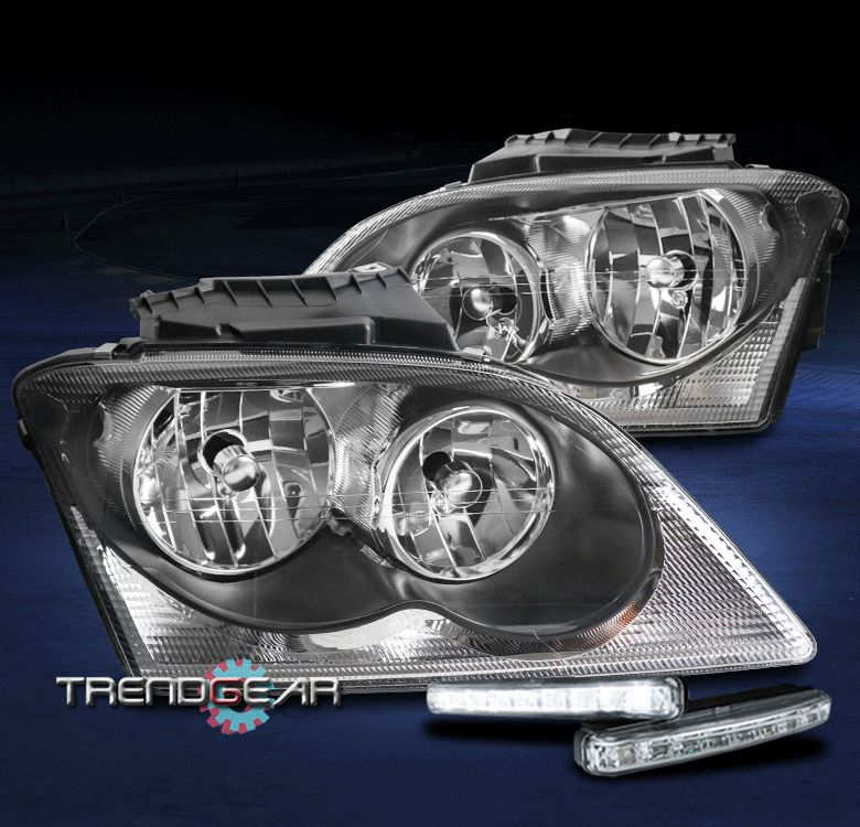 Ad Ebay For 2004 2005 2006 Chrysler Pacifica Black Headlights Lamp W Led