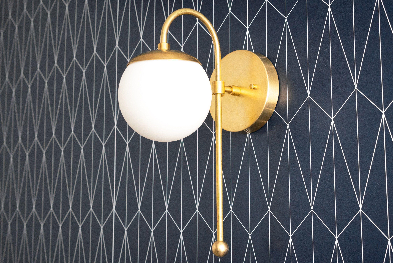 Photo of Chrome Sconce – Globe Sconce – Wall Light Globe – Brushed Nickel – Bathroom Sconces – Vanity Sconce – Bathroom Fixture – Model No. 1045