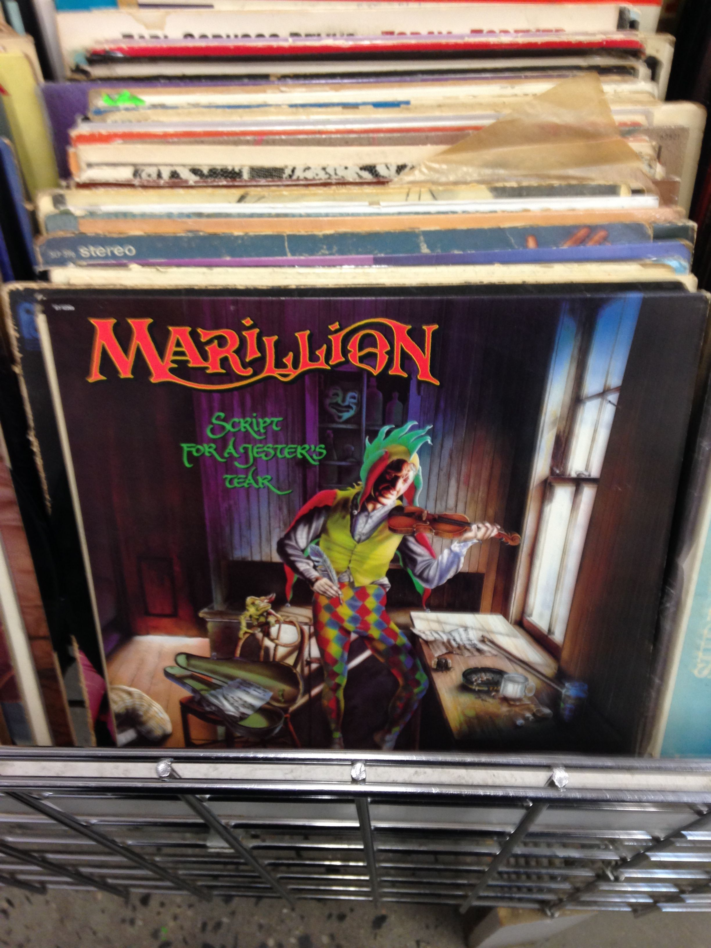 How Cool Is It To Find This Lp Marillion Script For A Jester S Tear For A Dollar Progressive Rock King Crimson Jester