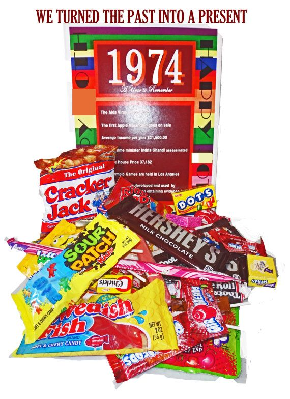 1974 40th Birthday Gift Basket Box Retro By NaturallyGiftedNY 2699