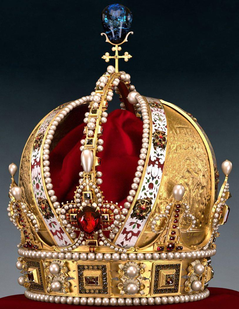 IMPERIAL CROWN OF RUDOLF II (1552-1612) Son of Maximilian II Holy Roman Emperor and Maria of Austria