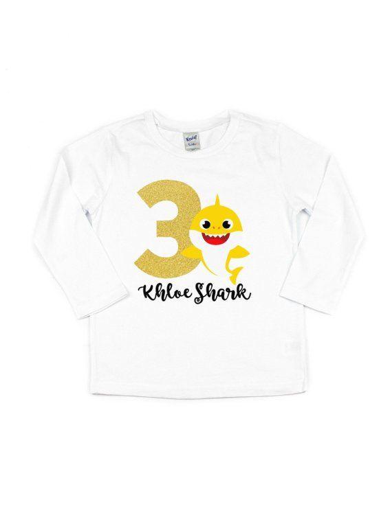 baby shark t-shirt - girl s birthday tutu outfit in yellow - shark birthday  theme for girls 94b873274
