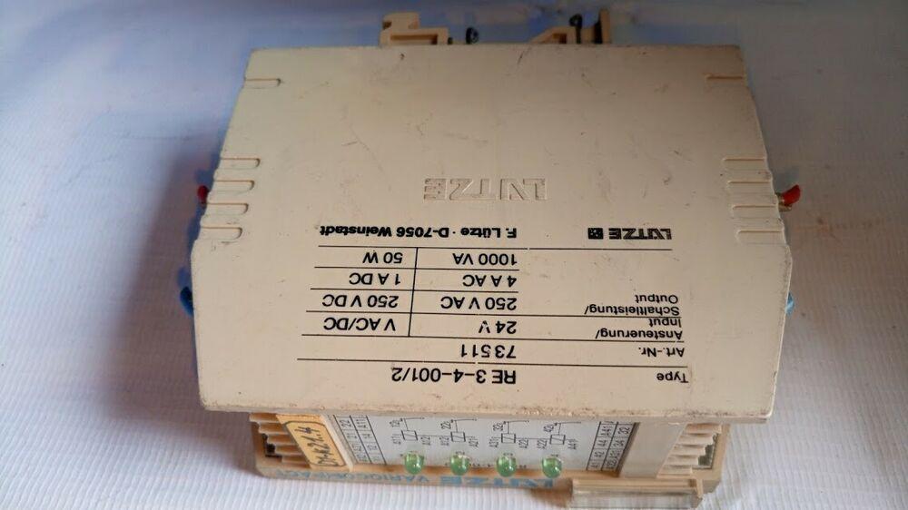 Lutze Vario Compact Re 3 4 001 2 Art Nr 73511 Relay Module Lutzevariocompact Relay Ebay Compact