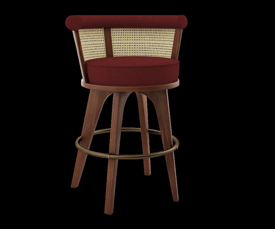 Rattan and Linen Bar Chair   Bar chairs, Bar chairs design ...