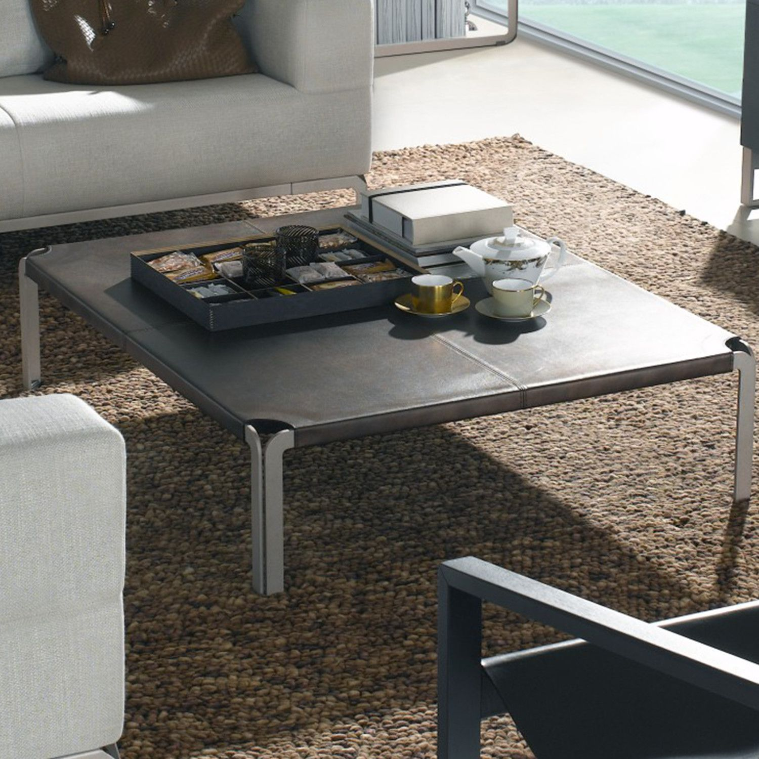 Lensua Coffee Table Leather Top Coffee Table Coffee Table Acrylic Coffee Table [ 1500 x 1500 Pixel ]