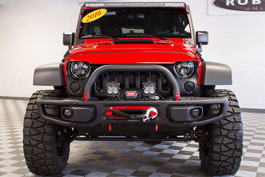 Custom Built 2016 Jeep Wrangler Sport Unlimited Firecracker Red
