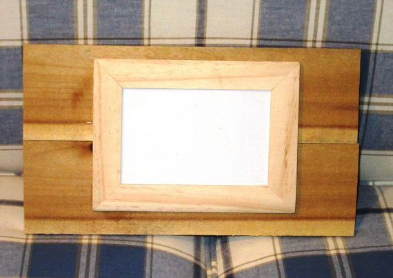 Single Reclaimed Wood unfinished Frame, holds one 4X6 photos with ...