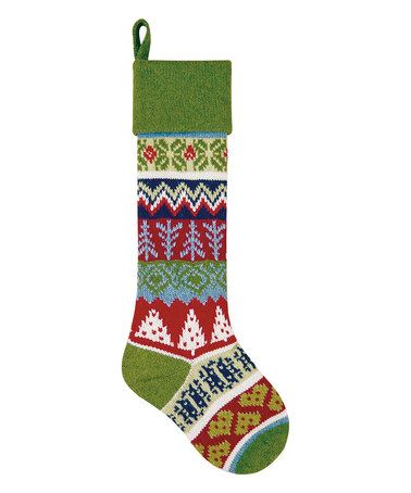 This Fair Isle Knit Tree Stocking is perfect! #zulilyfinds ...