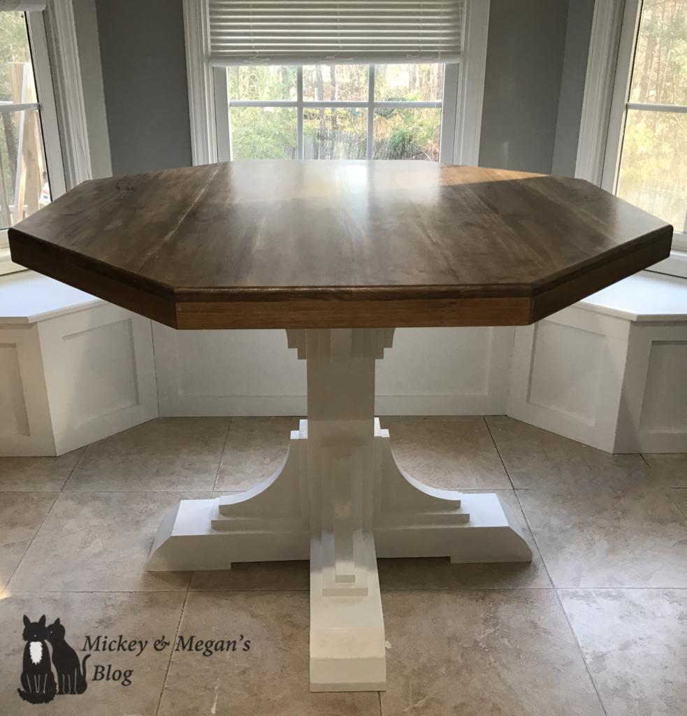 Diy Octagon Round Breakfast Table Mickey And Megan S Blog