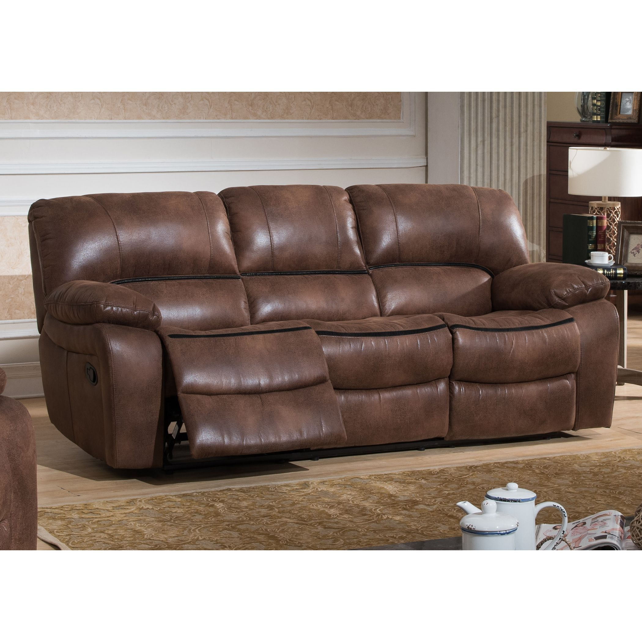 Strange Ac Pacific Leighton Transitional Reclining Sofa Products Alphanode Cool Chair Designs And Ideas Alphanodeonline