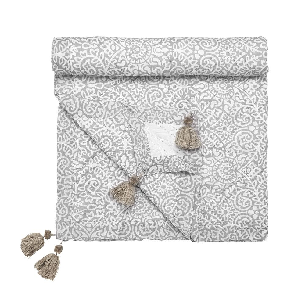 Discover the Day Birger Et Mikkelsen Patterned Throw - Light Grey at Amara