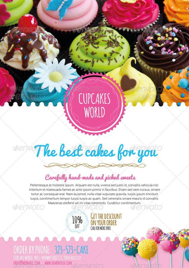 commerce flyer 17 cake shop pinterest cake logo cake shop and