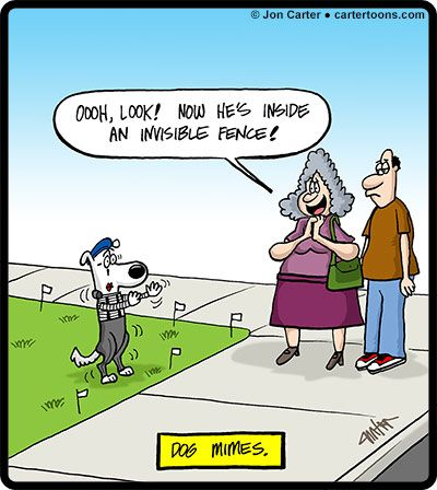 Cartertoons Com Dog Mimes Cartoon Cartertoons Pinterest