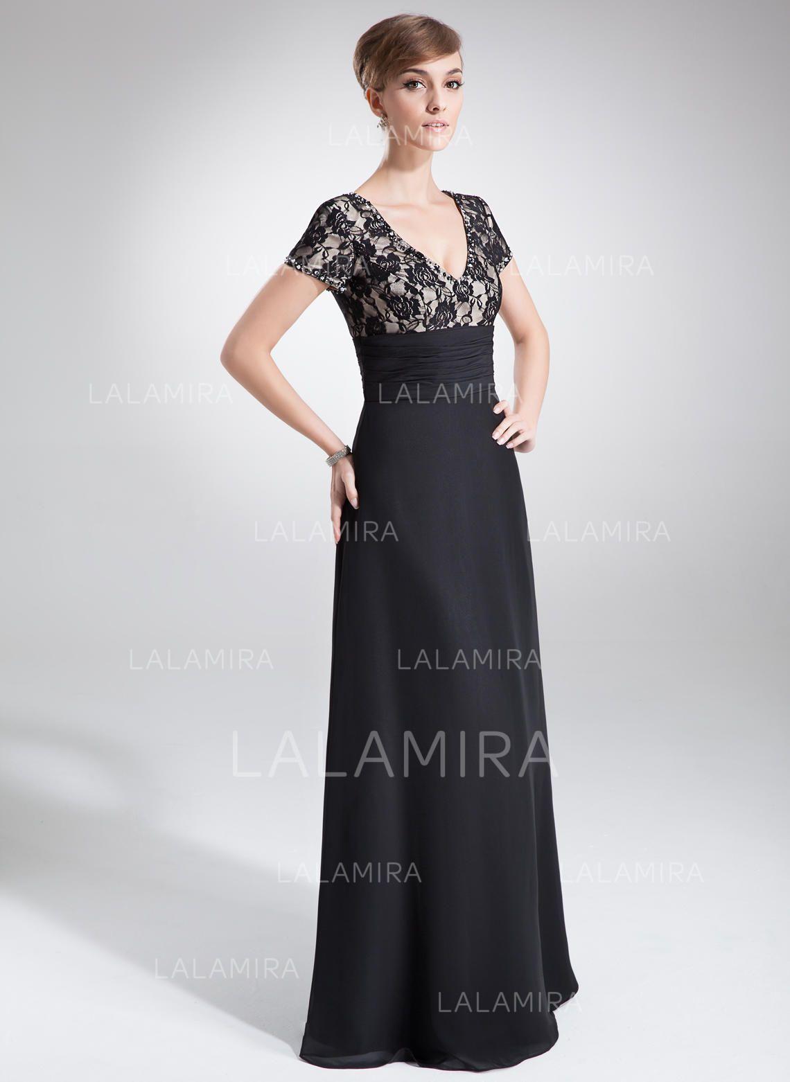 099d83a3a4e A-Line Princess V-neck Floor-Length Chiffon Lace Mother of the Bride  Dresses With Ruffle Beading (008005673) - Mother of the Bride Dresses  5673  - lalamira