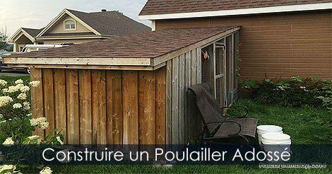 Construire un Poulailler Adossé à toit incliné - Guide Instructions ...