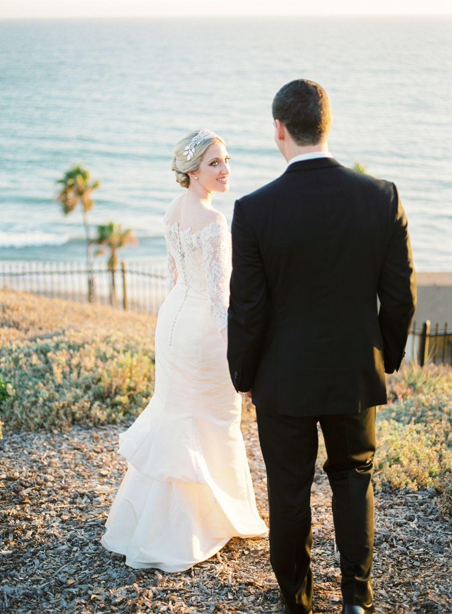 Casa Romantica Wedding, San Clemente wedding, bride and groom, beach wedding, San Clemente wedding, film photographer, film wedding photos