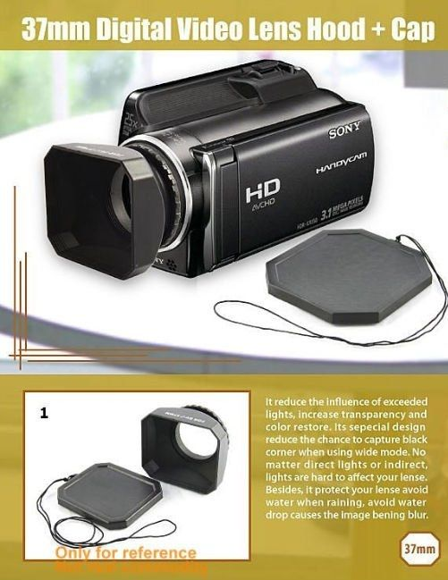 37mm Lens hood for Sony Handicams