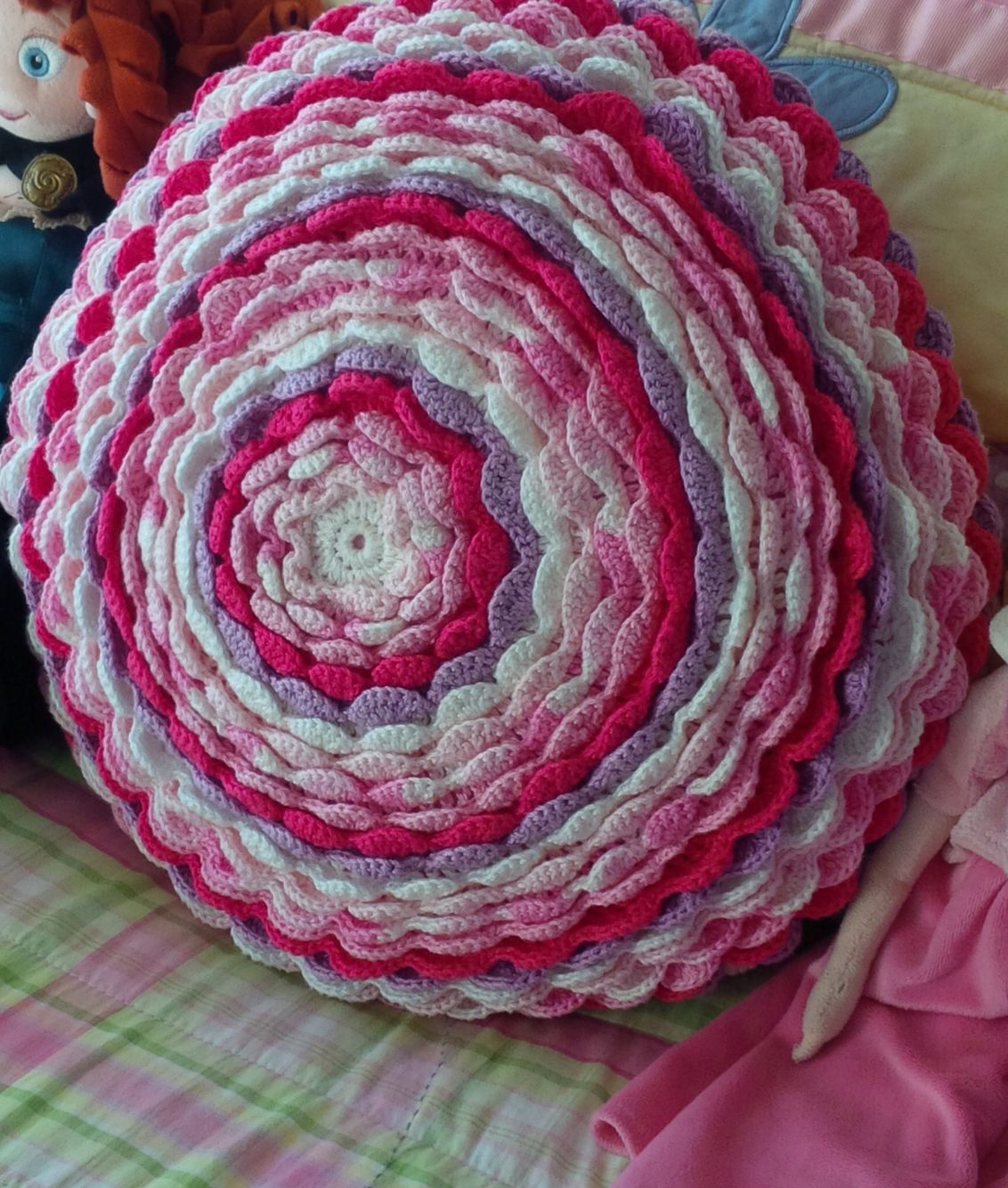 Crochet flor almohada cojin flower pillow | Crochet - tığ işi ...