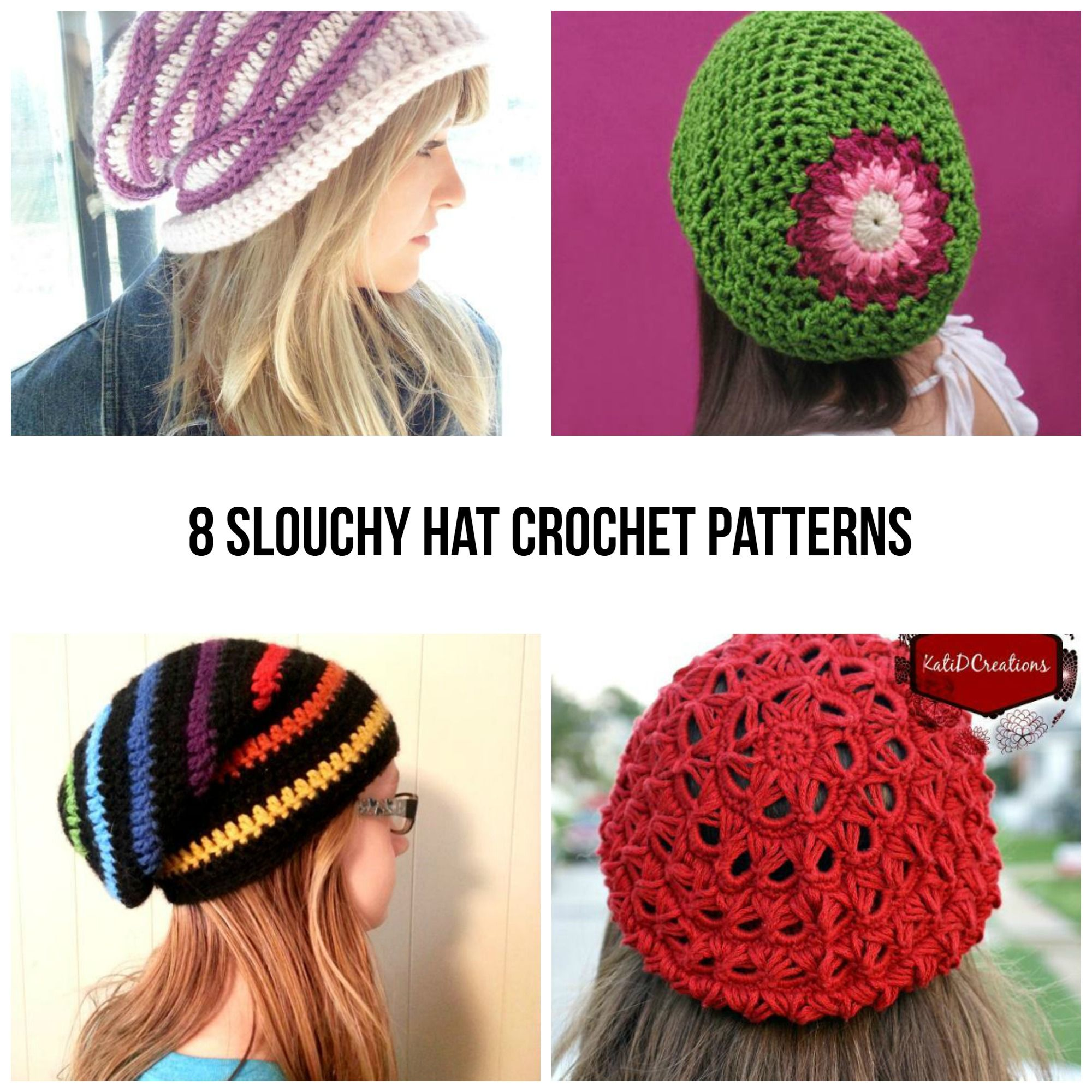 Bad Hair Day? 10 Crochet Patterns for Slouchy Hats   Hat crochet ...