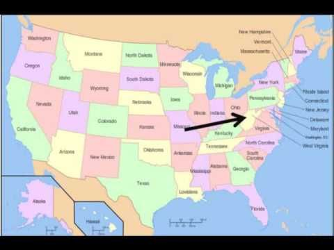 US states song - how to remember all the names (plus lyrics to ... on