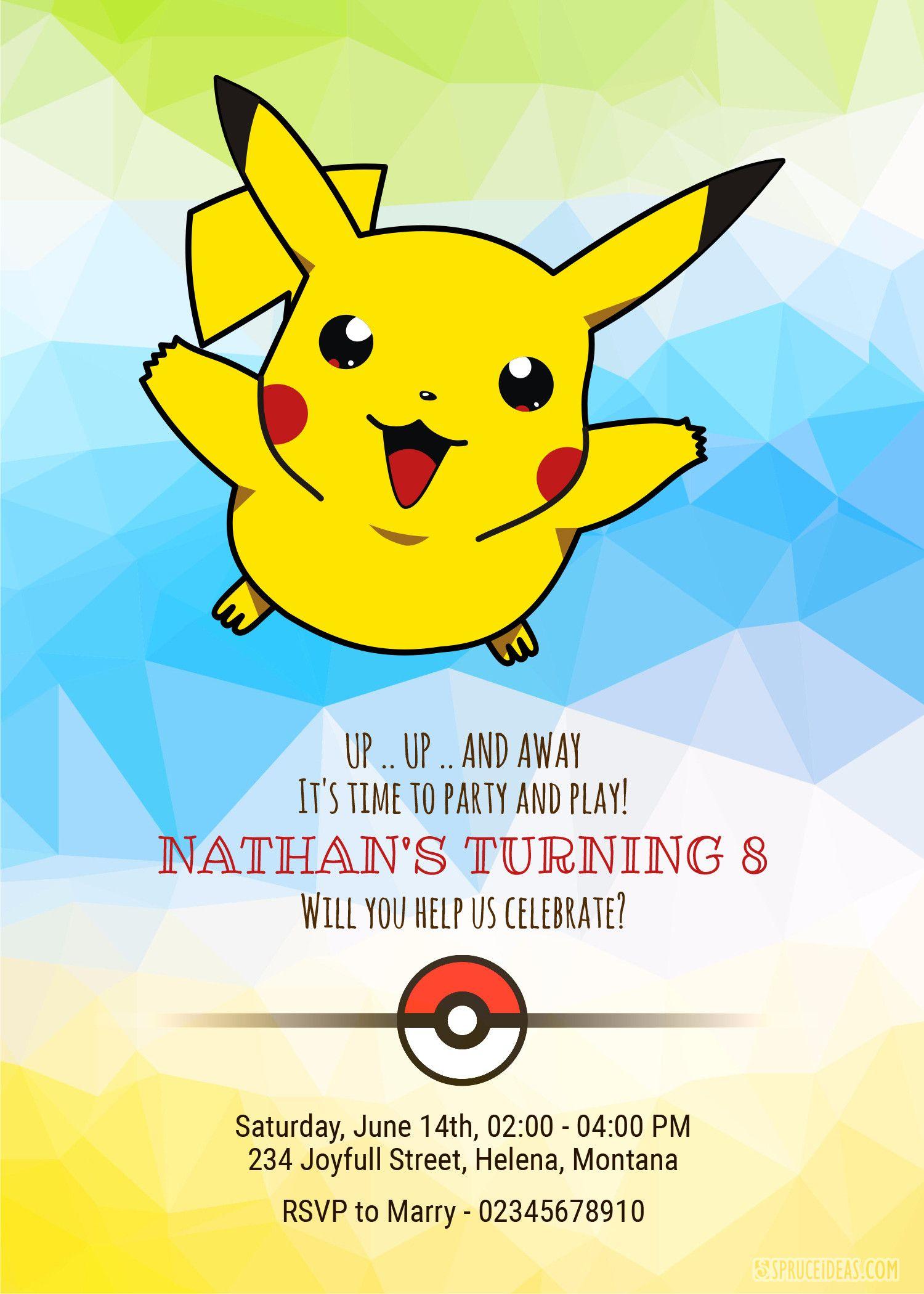 Pokemon Invitation Template Free Awesome 99 Pokemon Card Birthday Invitations Template Pokem Pokemon Invitations Pokemon Birthday Birthday Invitation Templates