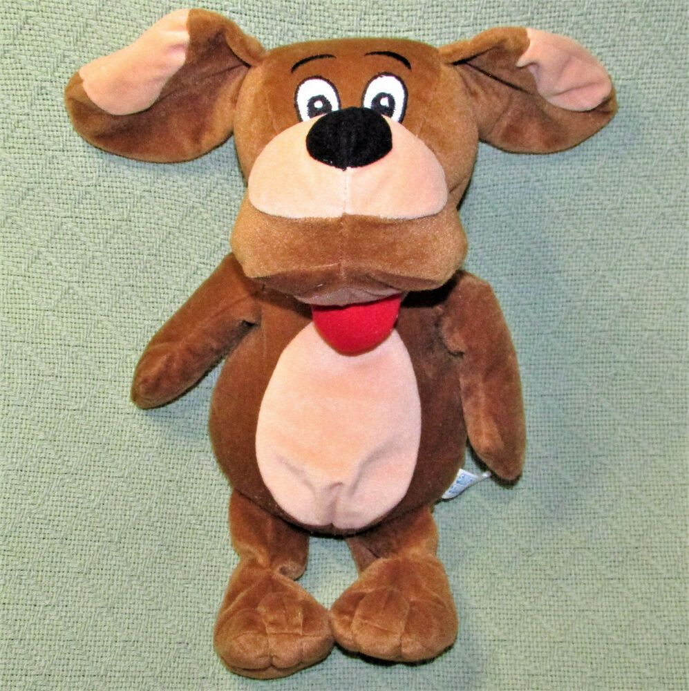 Soft Things 15 Dog Plush Beanbag Puppy Wags Floppy Brown Tab