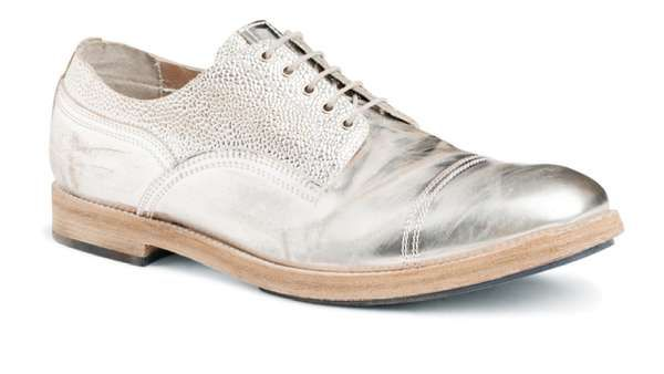 b3badefb49f6 Leather Punctured Footwear   shoes   Shoes, Derby shoes und Metal
