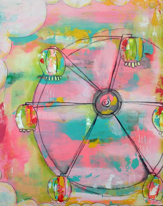 Colors. state fair one an original KELLY BARTON painting by kellybarton, $215.00