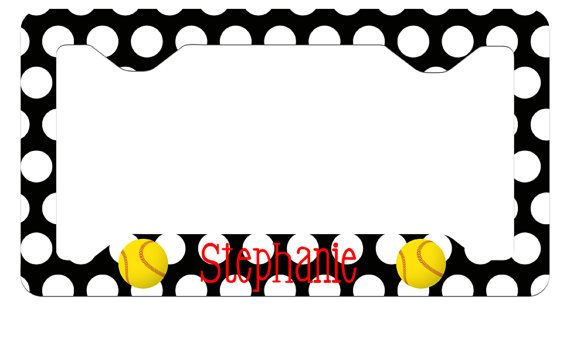 Personalized Softball Polka Dot License Plate by AModernStyle, $15.99