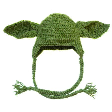 Touca de crochê Yoda (Star Wars) Crochet hat yoda  789457919fe