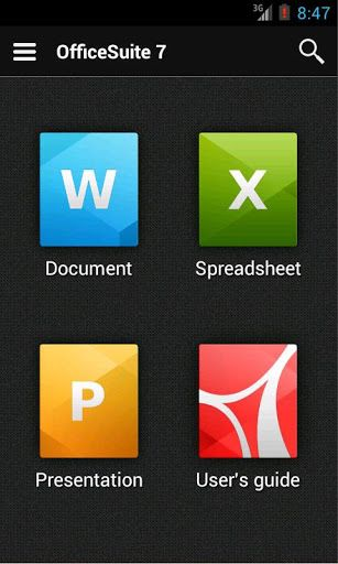 OfficeSuite Pro 7 (PDF  HD) v721311 Requirements 22 and up - spreadsheet free download for mobile