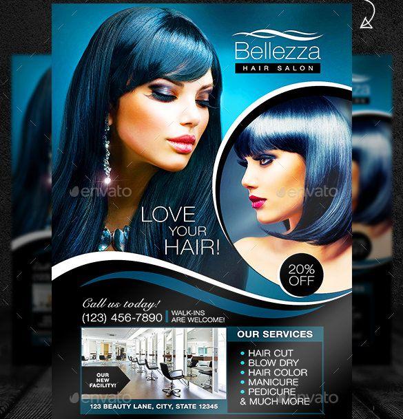 beauty salon flyer templates