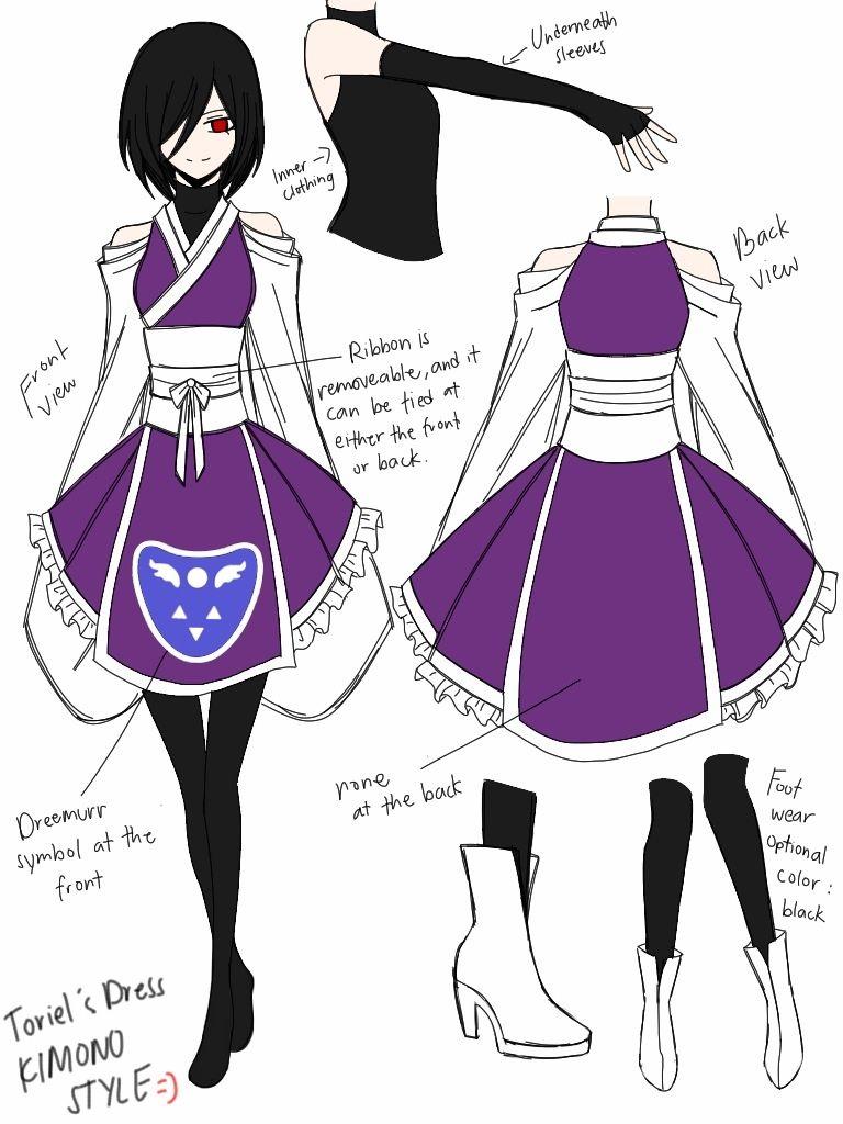 Toriel kimono design by cneko chan more