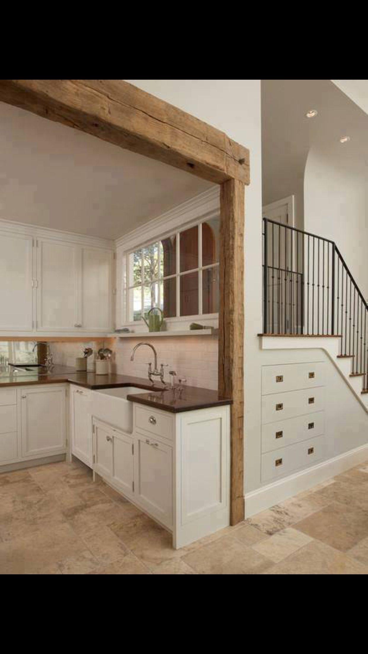 Pin By Natasa Kitsiou On House Ideas Mediterranean Kitchen Design Space Saving Kitchen Shaker Style Cabinets